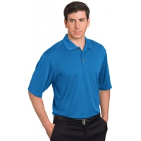 Pebble Beach Grid Texture Polo